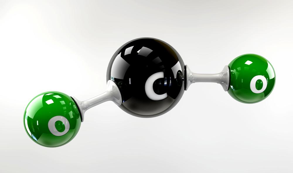 Схема молекулы углекислого газа