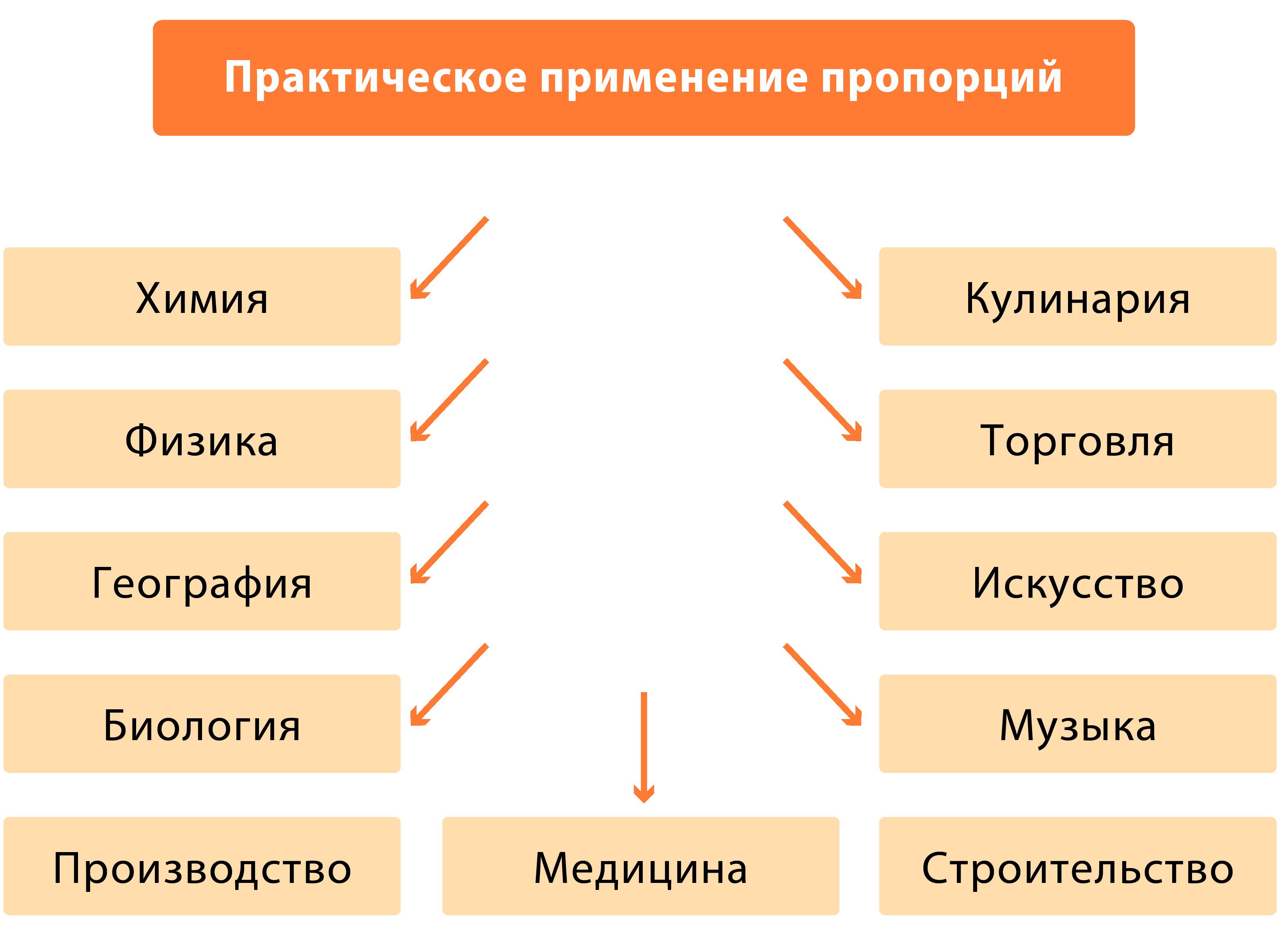 Применение пропорции