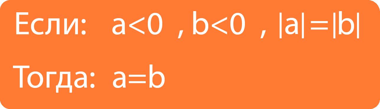 И если оба числа отрицательны и их модули равны, то и сами числа равны