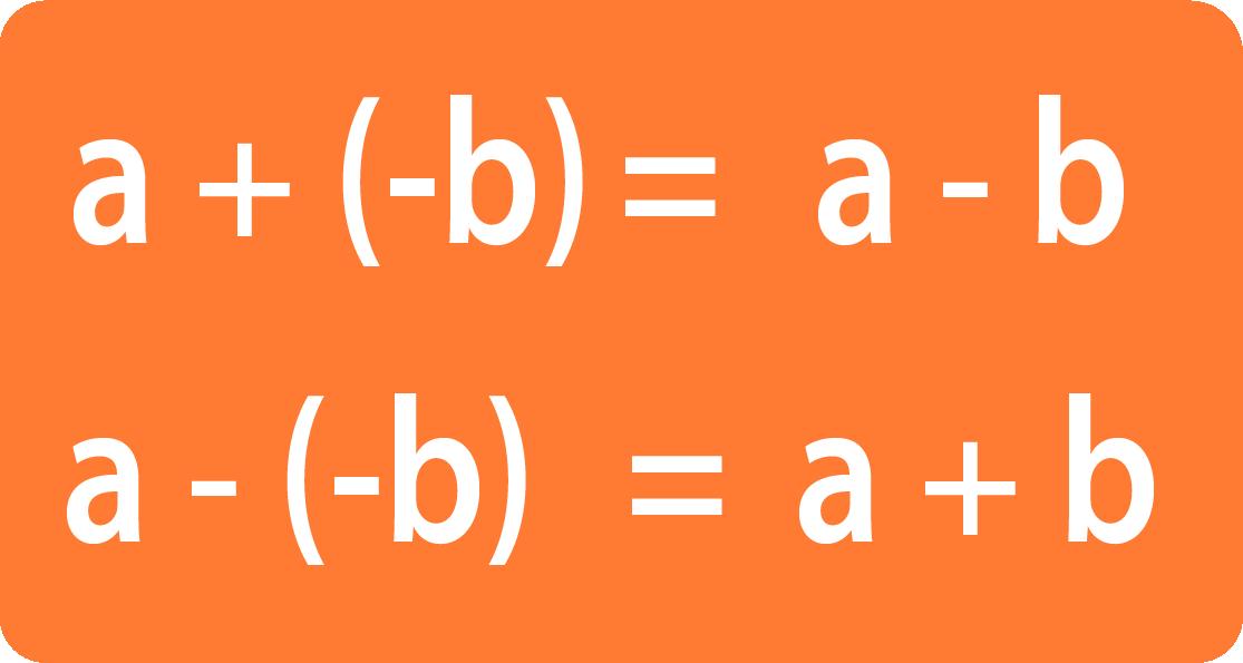 записанные подряд два минуса эквивалентны плюсу