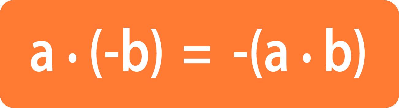 необходимо уметь перемножить числа с разными знаками
