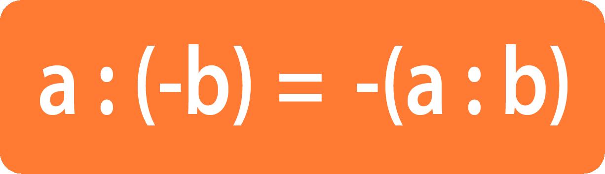 Деление чисел с разными знаками