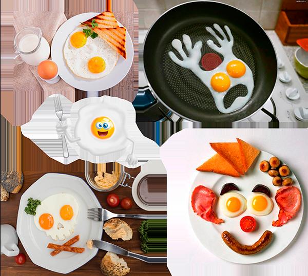 забавные формы яичницы