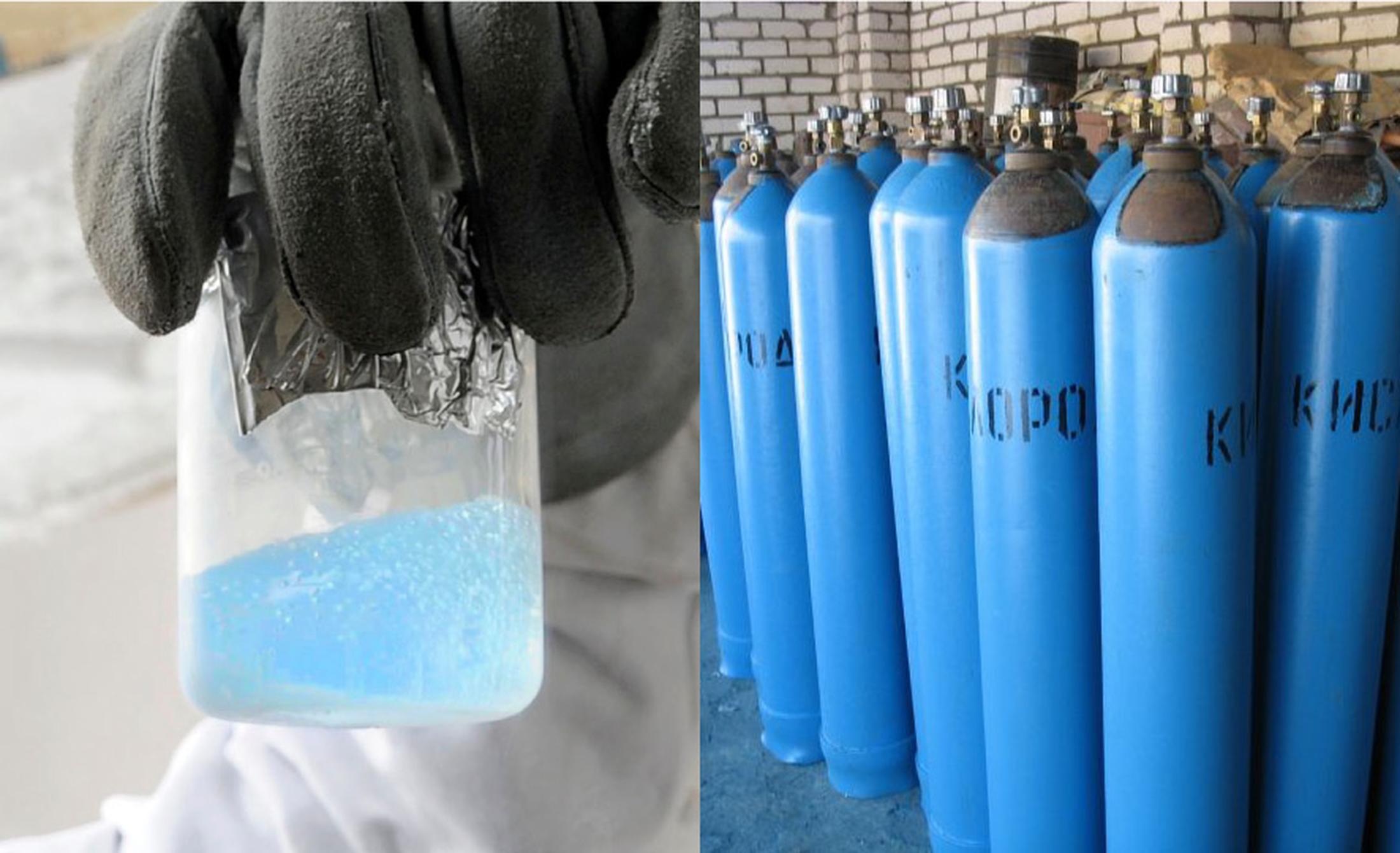 голубой баллон – это кислород