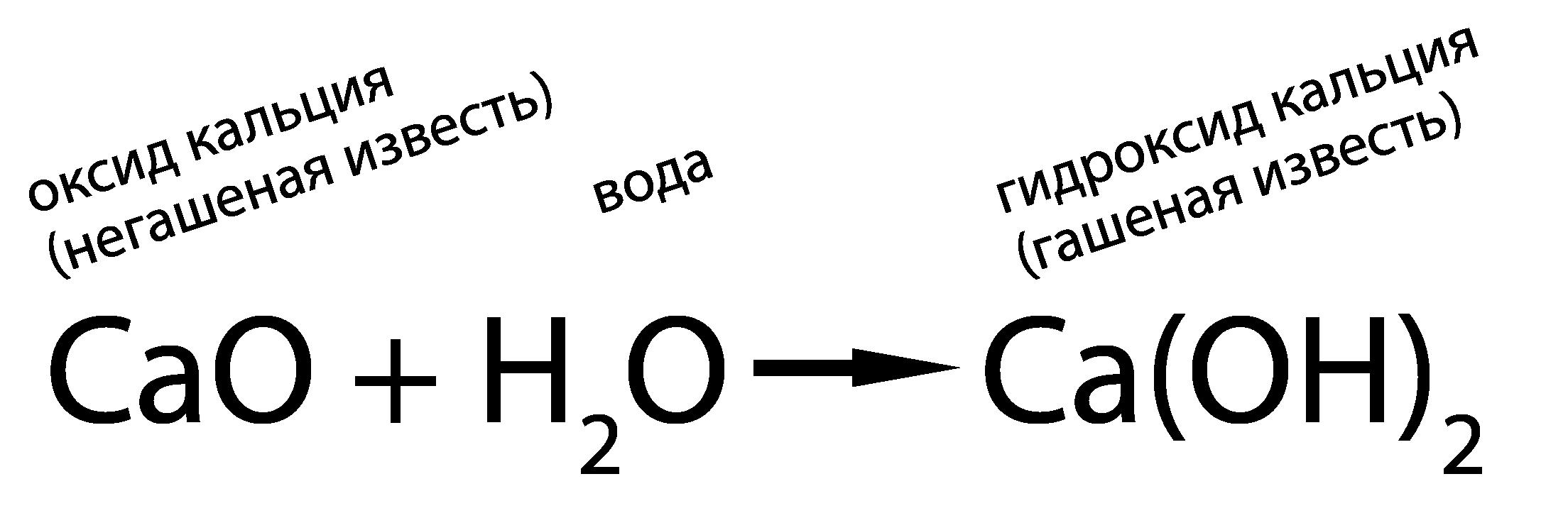 Из оксида кальция образуется гидроксид кальция