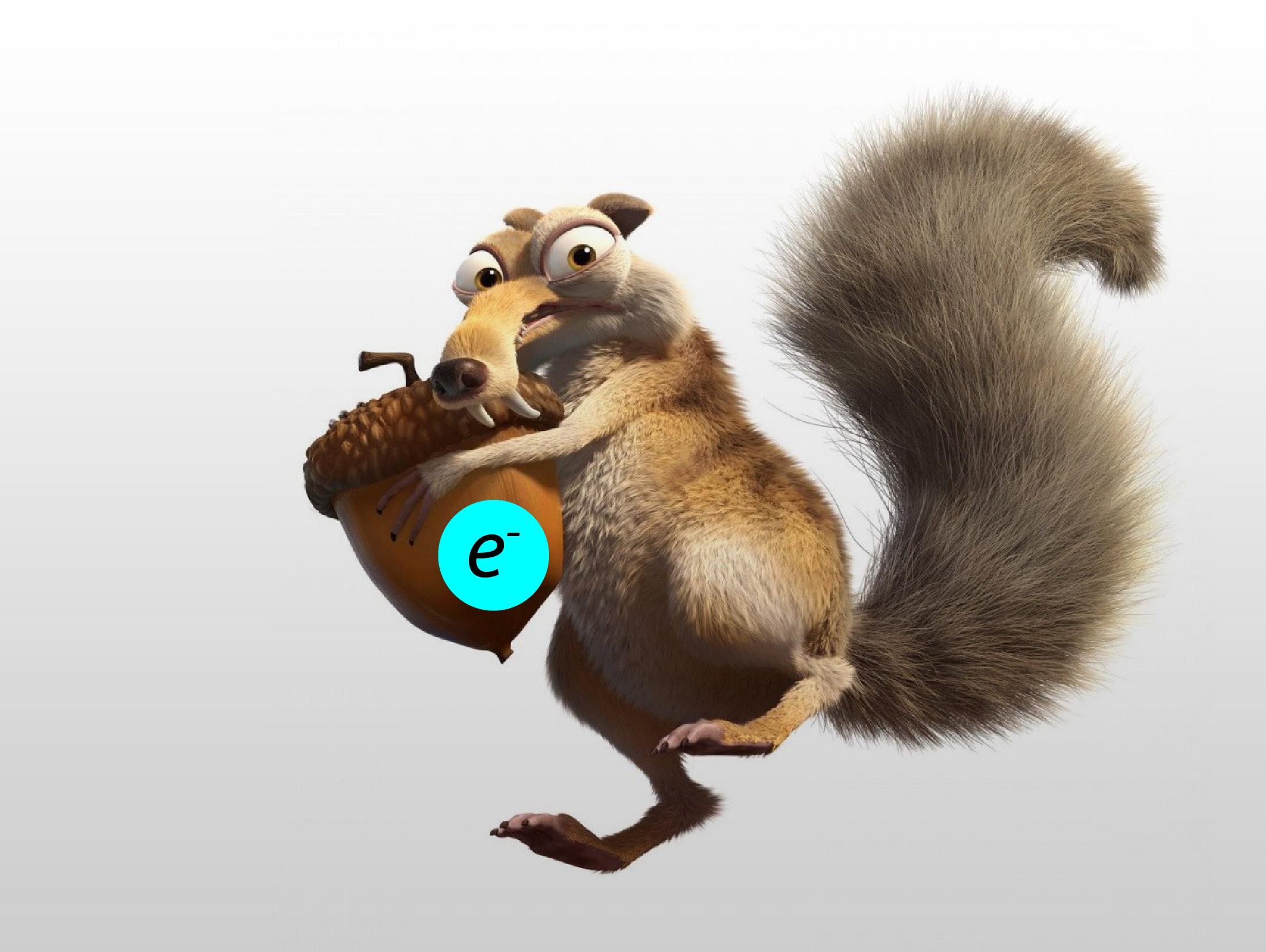 Получив недостающий электрон, атом переходит в стабильное состояние