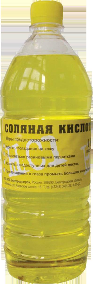 соляная кислота бледно-желтая из-за примесей