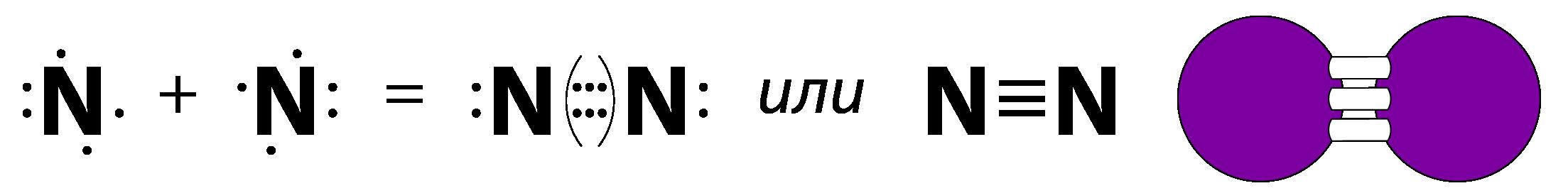 Молекула азота двухатомная
