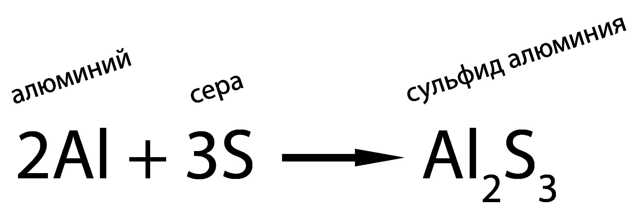 С другими неметаллами алюминий реагирует при нагревании