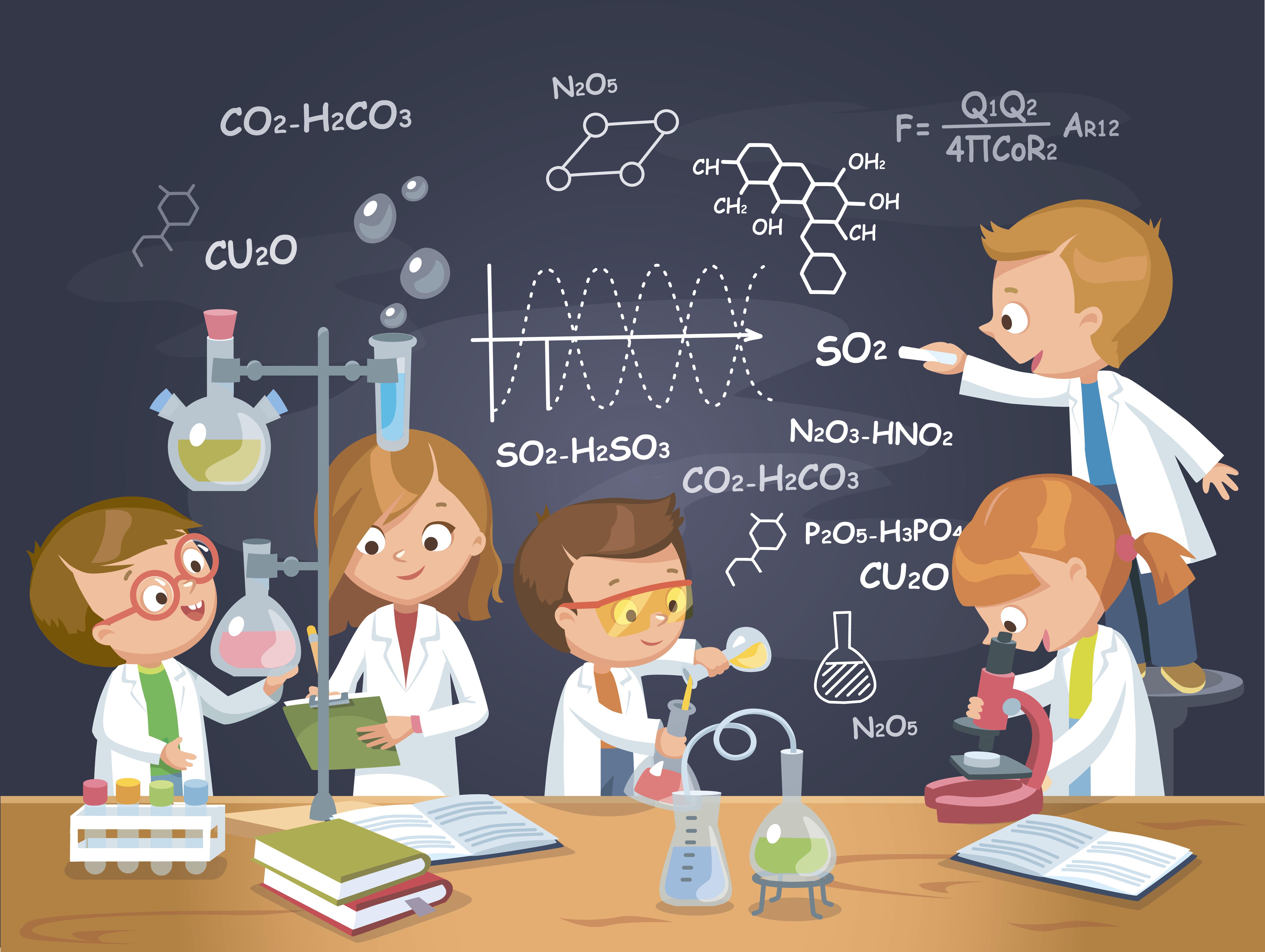 В химии есть своя система условных обозначений